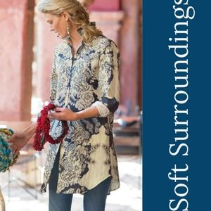 Soft Surroundings floral shirt tunic